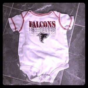Falcons (3-6 month), used onesie, fair condition